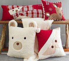 Christmas Decorative Pillows | PBK. I'm sure I could make these as Slipcovers for my pillows.
