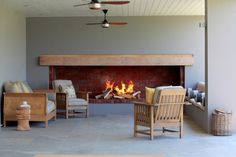 Angala Boutique Hotel en Gastehuis, Franschhoek- idea for patio fireplace. Home Fireplace, Fireplace Design, Built In Braai, Barbecue Design, Outdoor Rooms, Interiores Design, Home Renovation, Building A House, Kitchen Design