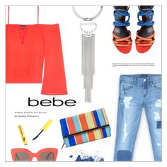 """""""All Laced Up for Spring with bebe: Contest Entry"""" by meyli-meyli ❤ liked on Polyvore featuring Bebe, Pierre Hardy, CÉLINE, Mundi and alllacedup"""