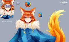 [Program Girl] Firefox by Reef1600 on DeviantArt