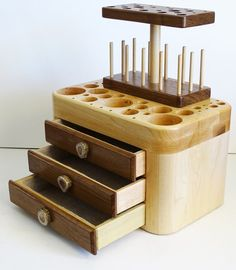 Fly Tying Tool Caddy with 3 Drawers Tool by AntlerCrestColorado