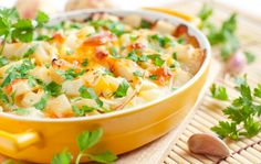 For our recipe we combined sliced potatoes and zucchini with some yellow squash and tomato. We seasoned the dish simply with some thyme, salt and pepper, and then we topped it all with cheese to provide a perfect crust to the dish. Serve this tian with a crisp white wine to perfectly round out the meal.baked potato casserole, casserole recipe veggie style...