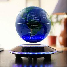C shape Magnetic Levitation Floating Globe LED Light World Map Office Desk Decor Led, Rotating Globe, Magnetic Levitation, High Tech Gadgets, Fun Gadgets, Clever Gadgets, Awesome Gadgets, Cool Gadgets To Buy, Electronics Gadgets