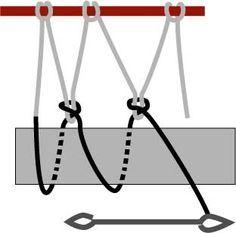 Diamond mesh netting www. Paracord Knots, Rope Knots, Macrame Knots, Survival Knots, Survival Tips, Survival Skills, Net Making, Rope Crafts, Mesh Netting