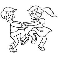 Inspirational Of Kids Dancing Clipart Black And White