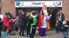 Sinterklaas en zwarte piet bij i-Repair4U in de Kersenboogerd