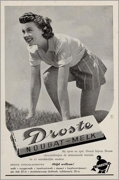Droste advertentie Vintage Advertisements, Vintage Ads, Vintage Posters, Old Commercials, Home Cinemas, Advertising Poster, Looking Back, Old Photos, Black And White