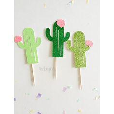 Cactus Cupcake Topper décor Tropical Fiesta Tropical par Newwaykids