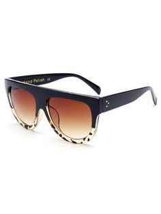 d044e719f2 Leopard Pattern Match Black Sunglasses