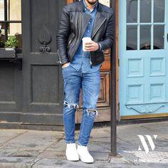 Denim on Denim Look For Men. #mens #fashion #style
