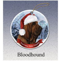 Bloodhound Howliday Dog Christmas Ornament
