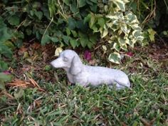 Dachshund StatueToy Dog Concrete Figure Cement Garden Decor