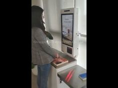 24 inch self service checkout kiosks for library Kiosk Design, Ui Design, Kiosk Machine, Library Checkout, Public Library Design, Self Service, Joker Quotes, Machine Design, Library Books