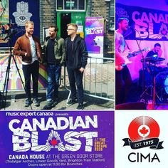 @pyramid_tropic warming up for @greatescapefest this weekend at the @canadian_blast showcase! Get to @greendoorstore today til Saturday for lots of Canadian bands in Brighton!