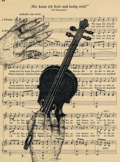 Dishfunctional Designs: Upcycled Sheet Music Craft sPrint vintage designs, or charcoal drawing over it.