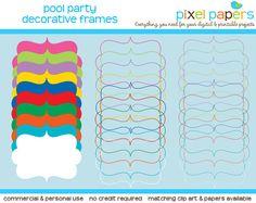 Colorful frames for DIY printables