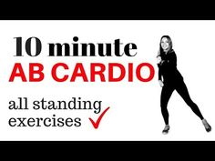 Cardio and Ripped Abs Why So Important To You? A great way to get you back on track to your fat loss mission is not by doing hundreds of crunches and then expecting ripped abs. Cardio is a must to reduce excessive body fat. 7 Workout, 10 Minute Ab Workout, 10 Minute Abs, Tummy Workout, Ab Workout At Home, Workout Videos, At Home Workouts, Core Workouts, Girl Workout