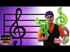 Treble clef of balloons - YouTube