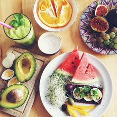 """I love this picture because it is a visual example of how many options there are when it comes to eating healthy foods. Many people associate """"clean eating"""" with disgusting foods and rituals when that is not the case whatsoever."""
