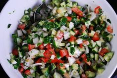 Cucumber Tomato Salad Recipe - 3 Points + - LaaLoosh#Repin By:Pinterest++ for iPad#