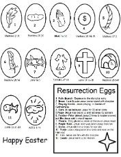 Easter Resurrection Eggs Coloring Pages- Easter Coloring Pages