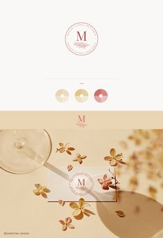 Premade Professional logo for your business! Branding Design, Logo Design, Flower Logo, Professional Logo, Botanical Flowers, Logo Color, Business Logo, Initials, Place Card Holders
