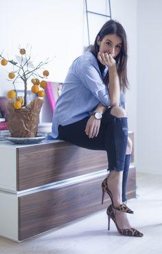 By Malene Birger shirt, Rag&Bone jeans, Louboutin shoes