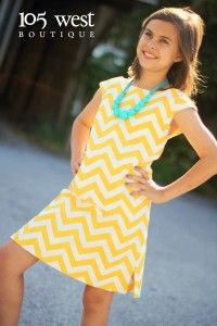 Tween Chevron Sundress.  $46.99.  ~ 105 West Boutique located in Abbeville, SC.  (864) 366-WEST.  Shipping $5.  Look for us on Facebook & Instagram!