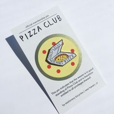 PIZZA CLUB PIN More