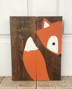 Astucieux petit signe de fox fox signe de par AmbersWoodenBoutique