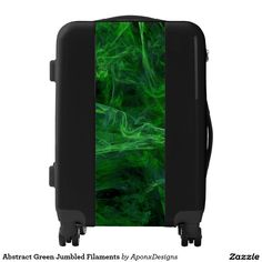 Shop Abstract Green Jumbled Filaments Luggage created by AponxDesigns. Color Patterns, Suitcase, Colorful, Abstract, Green, Design, Colour Pattern, Suitcases, Design Comics
