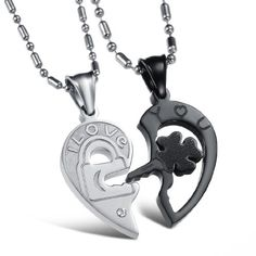 His & Hers Matching Set Titanium Open Your Heart I Love You Key and Lock Couple Pendant Necklace Korean Love Style Anniversary/engagement/promise Symbol in a Gift Box http://blackdiamondrising.com/valentines-gifts-for-him-2/