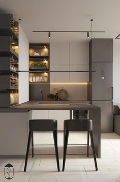 Kitchen Buffet, Kitchen Chairs, Home Decor Kitchen, Kitchen Furniture, Modern Kitchen Design, Interior Design Kitchen, Japanese Kitchen, Tricks, Small Kitchens