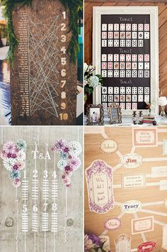 25  idées pour un plan de table de mariage original | http://www.deerpearlflowers.com/wedding-seating-chart-ideas-your-guests-will-love/