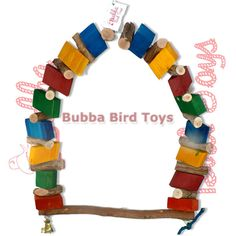 Bird Swing - Your large bird will love this giant swing that doubles as a chew toy! This swing makes our Bird Ivan look like a parakeet.
