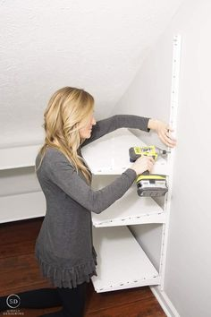 Under stairs Screw wall mounts into the wall IKEA ALGOT system Reading-Comprehension Skills - Part I Pantry Shelving, Cupboard Storage, Closet Storage, Cupboard Design, Pantry Design, Under Stairs Pantry, Ikea Algot, Pantry Organization, Pantry Ideas