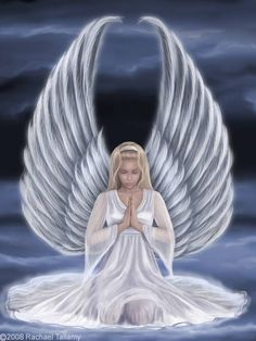 """Whenever I'm in fervent prayer I feel God's Holy Angels there; Protective, loving, and serene; Who stay nearby, tho yet unseen. ✨ -Sancie Earman King, """"Angels Always There"""" ✨"""