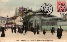 CPA métro Bastille sur Delcampe - Hector Guimard