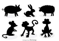 Resultado de imagen para animales animados silueta