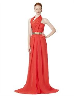 HALTER DRAPED GOWN by Oscar De La Renta... the man knows what he's doing... love love love!