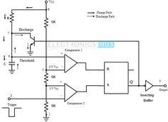 Monostable Multivibrator using 555 Timer @eh_org #Electronics #Circuits #IC #MAKE #STEM