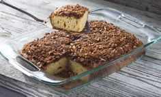 This batter and streusel topped breakfast coffee cake can be prepared and chilled in the pan for up to 18 hours before baking.
