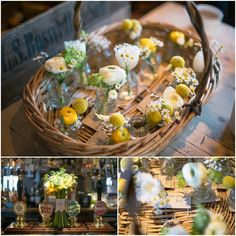 Inspiration For Yellow Wedding Flowers. Natural Just Picked Yellow Bouquets and Yellow Buttonholes Tied With Lace, Twine & Ribbon. Barn Wedding Venue, Our Wedding, Wedding Ideas, Yellow Bouquets, Waves Photography, Gift Shops, Yellow Wedding Flowers, Shine Your Light, Themed Weddings