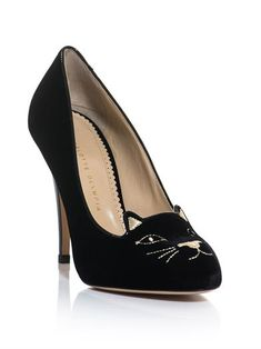 Charlotte Olympia Kitty embroidered pumps  The price is a little outrageous, but they're soooo cute!