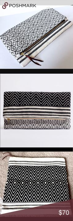 🆕NWOT Tribe Alive Atitlan Brocade Clutch NWOT Atitlan Brocade reversible clutch by Tribe Alive. Removed from packaging just for photos. Super cute, perfect for summer or fall evenings!  🔹Neutral shades 🔹Intricately hand woven 🔹Unique mix of contrasting patterns 🔹Reversible 🔹Zipper closure 🔹100% handwoven cotton 🔹11.5″ W x 11.5″ H (unfolded) 🔹Handmade in India  🔻Reasonable offers welcome 🔻No trades Tribe Alive Bags Clutches & Wristlets