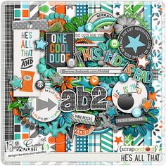 He's All That digital kit  by Bella Gypsy Designs! Save 20% for a limited time! #bellagypsy #digiscrap #digitalscrapbooking