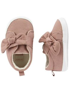 Baby Girl Carter's Bow Sneaker Crib Shoes from Carters.com