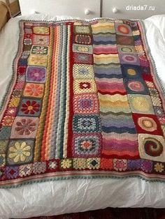 Harvest Patchwork Afghan: free