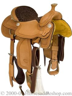 Front view of Billy Cook Arena Roping Saddle 2146-SR