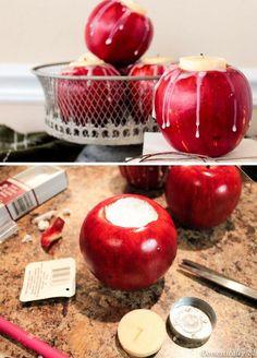 DIY Apple Candle Holders | 25 DIY Winter Wedding Ideas on a Budget | DIY Winter Wedding Decorations